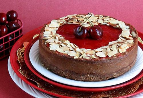Vegan Valentine Recipes: Robin's Cherry Chocolate Cheesecake