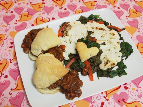 Vegan Valentine Recipes: Le Seitan de l'Amour Entree