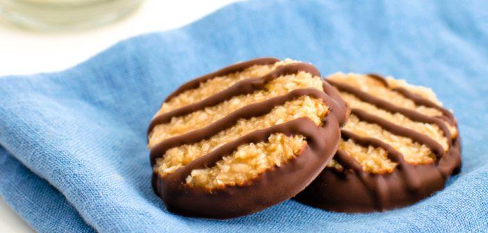 Vegan Samoa Girl Scout Cookies (a.k.a. Homemade Caramel deLites)