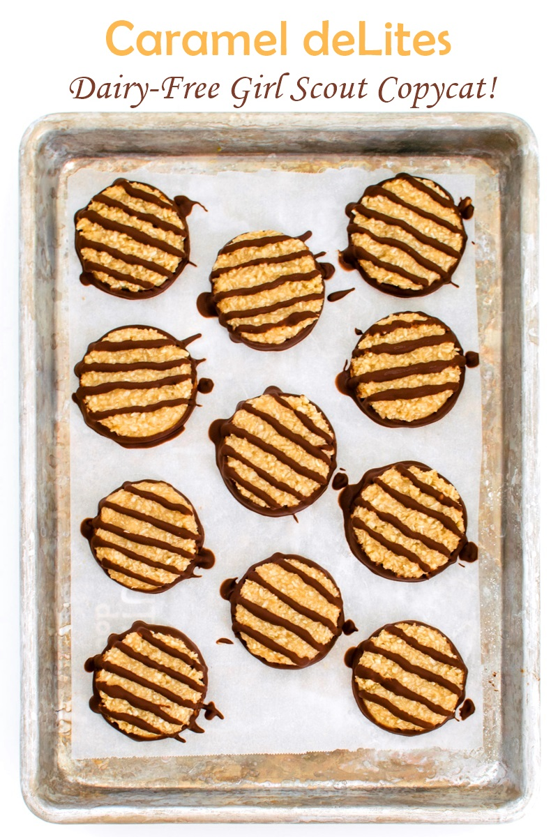 Vegan Samoa Girl Scout Cookies Recipe (a.k.a. Homemade Caramel deLites) - a sample recipe from Go Dairy Free The Guide and Cookbook 2nd Edition