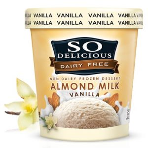 So Delicious Dairy Free Vanilla Almond Milk Ice Cream - Low Sugar, Low Fat, Vegan, Gluten-Free