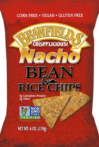 Beanfields Bean & Rice Tortilla Chips - Dairy-Free, Vegan, Corn-Free, Cheesy