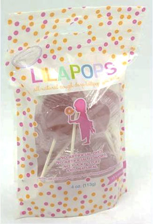 Lilapops - all natural lollipops for soothing a sore throat.