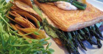 St. Patrick's Day Veggie Sandwich