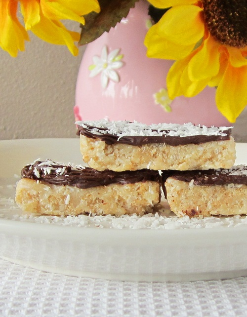 Chocolate-Dipped Rice Crispy Bars Recipe - Dairy-Free, Gluten-Free, Nut-Free, Vegan, Marshmallow-Free