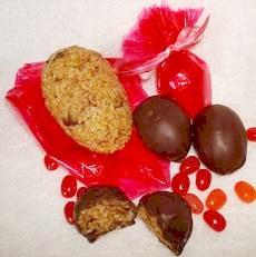 Chocolate-Covered Rice Crispy Easter Treats
