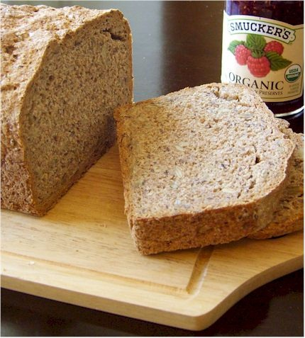 Vegan German-Style Whole Grain Bread Recipe - Spelt or Whole Wheat