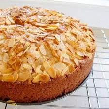 Semolina Almond Cake w/ Lemon Glaze - Dairy-Free, optionally Gluten-Free