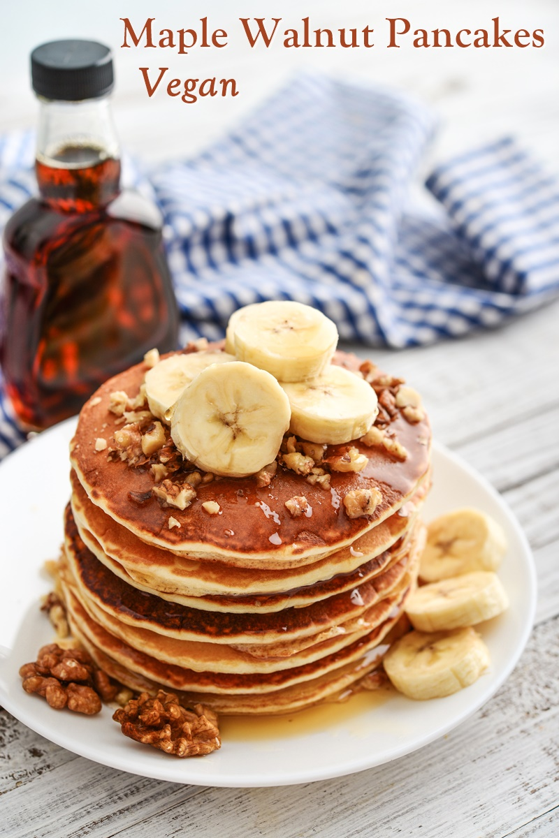 Easy Vegan Maple Walnut Pancakes Recipe Stacked With Satisfaction