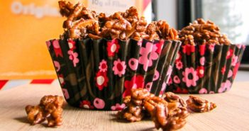 Healthy Almond Crunch Clusters Recipe - easy, shortcut snack or breakfast rich in protein, fiber, dairy-free calcium, magnesium, and more. Vegan-friendly.