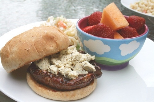 Summer Barbecue Recipe Portobello Vegan Burgers