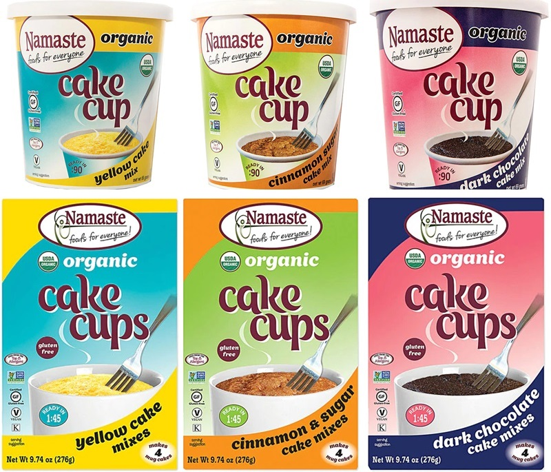 Namaste Organic Cake Cups Reviews and Information - Top Allergen-Free, Gluten-Free, Vegan, Certified Organic Cake Cups and Mug Mixes in three classic varieties