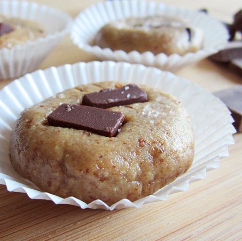 Salted Dark Chocolate Chunk No Bake Cookies - Dairy-Free, Soy-Free, Gluten-Free, Vegan
