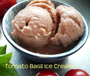 Tomato Basil Vegan Ice Cream from The New Scoop Ice Cream Cookbook