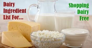 Dairy Ingredient List