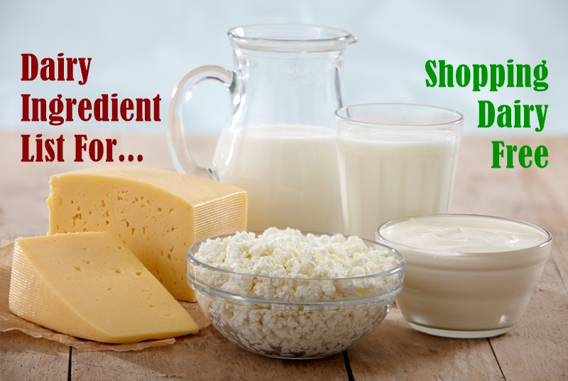 Dairy Ingredient List For Shopping Dairy Free