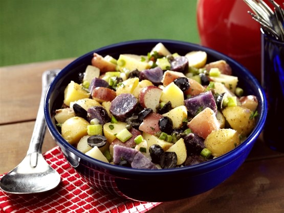 Red, White and Blue Vegan Potato Salad (naturally gluten-free, too!)