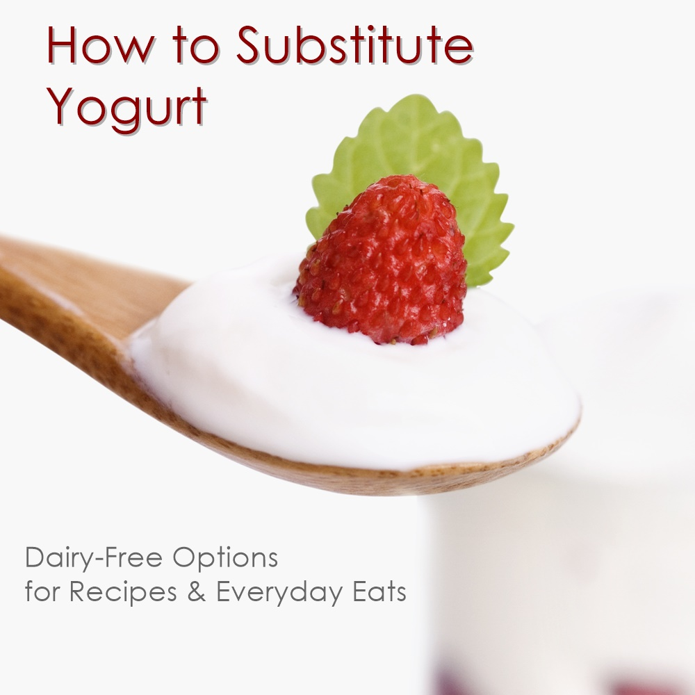 How to Substitute Yogurt - Dairy-Free & Vegan Options for recipes and everyday, probiotic-rich eats