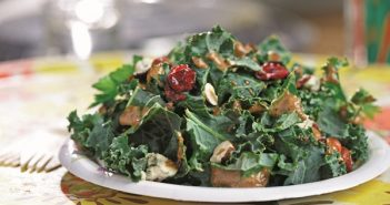 Nutritious Kale Salad with Hazelnut-Balsamic Dressing