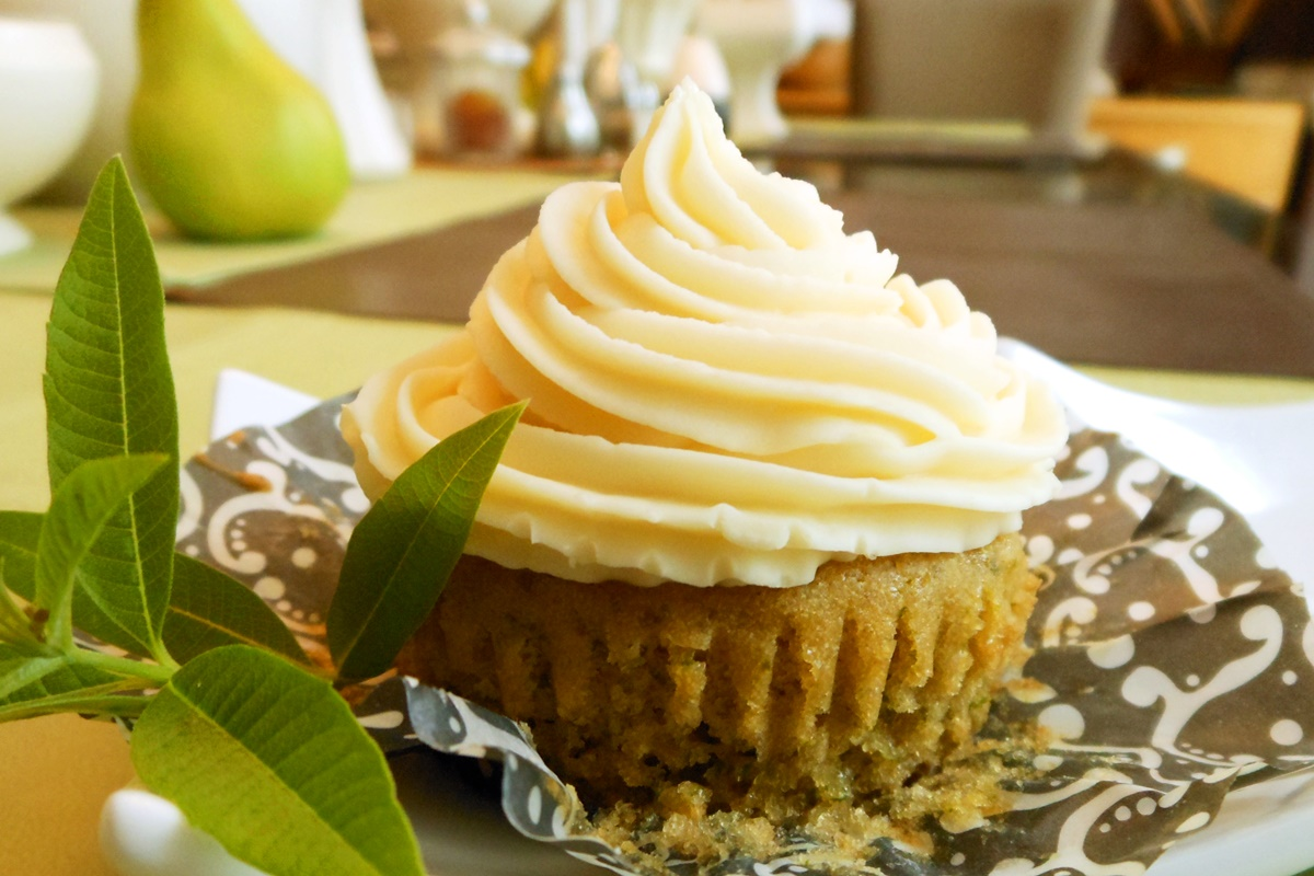 Lemon Verbana Vegan Cupcakes with Orange Almond Buttercream Frosting (dairy-free, egg-free recipe by a popular cookbook author) - regular lemon can be substituted