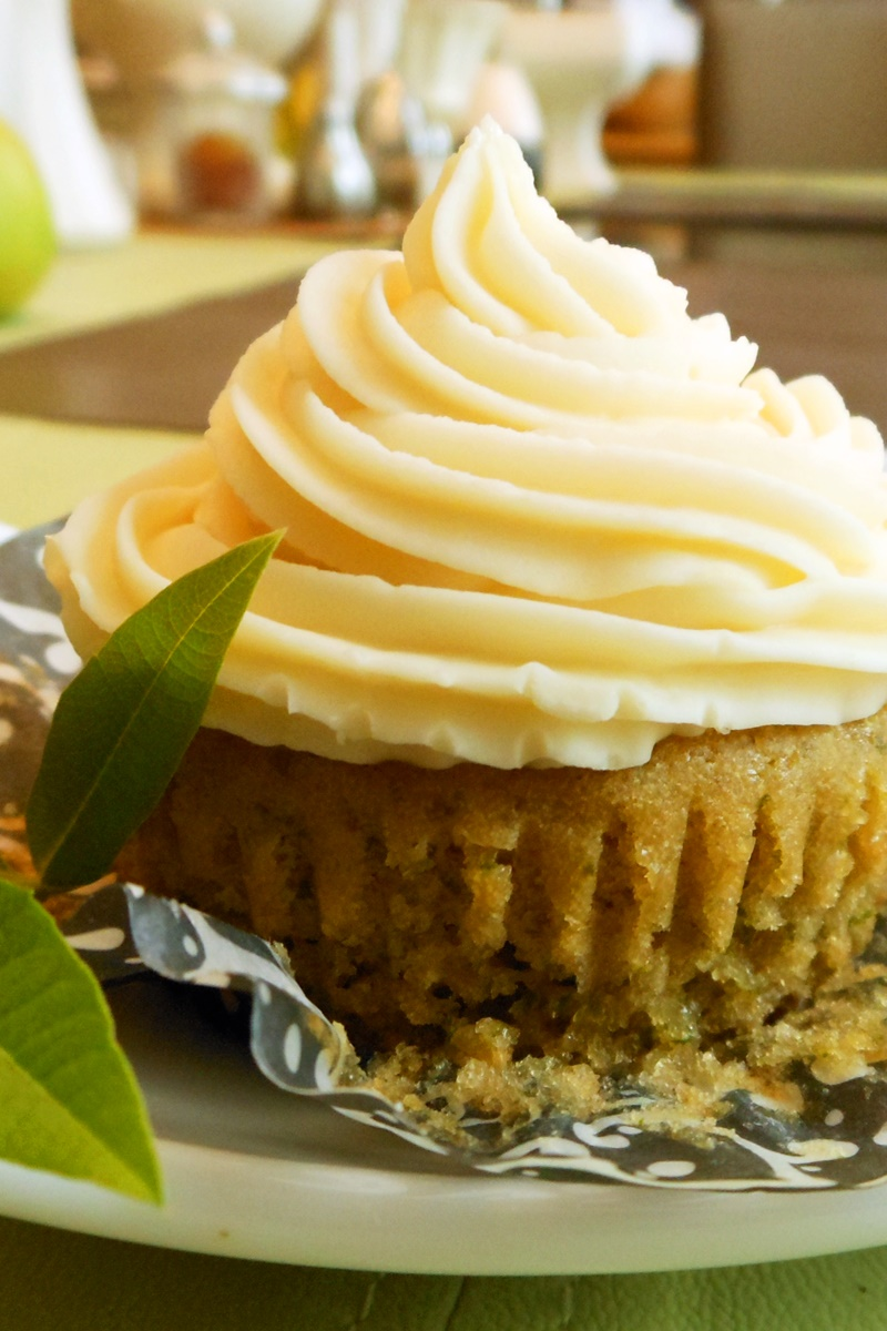 Lemon Verbena Vegan Cupcakes with Orange Almond Buttercream Frosting (dairy-free, egg-free recipe by a popular cookbook author) - regular lemon can be substituted