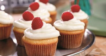 Raspberry Cupcakes with Dairy-Free Cream Cheese Frosting