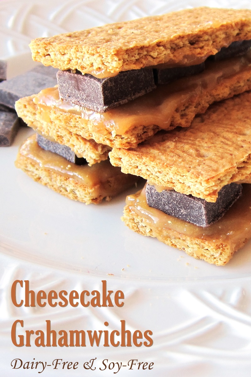 Dairy-Free Cheesecake Grahamwiches Recipe for a Nutritious Sweet Snack (options for vegan and gluten-free)