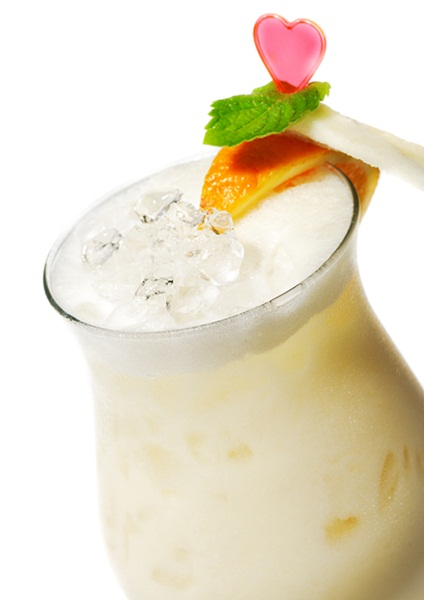 Orange Vegan Ice Cream Float for Adults