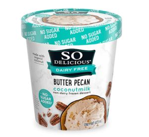 So Delicious No Sugar Added Dairy-Free Ice Cream / Frozen Dessert - Reviews and Information - Dairy-Free, Soy-Free, Vegan