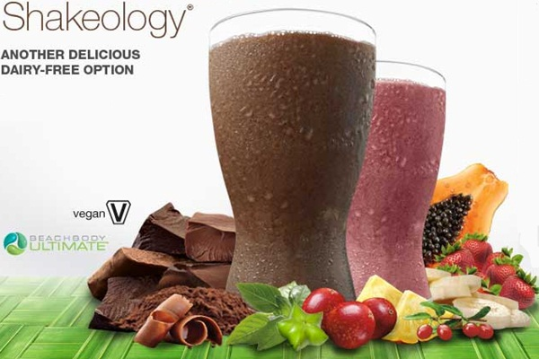 Vegan Shakeology Review - Chocolate and Strawberry Pictured