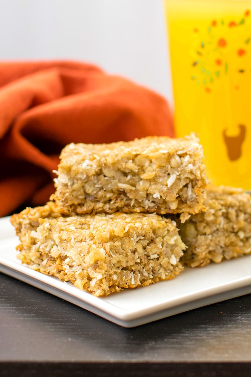 Super Banana Oat Snack Bars are a Hands Down Family Favorite