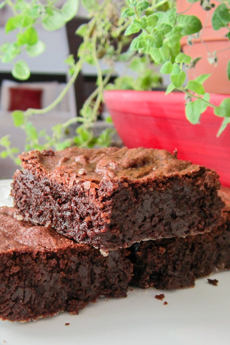 Dairy-Free Flourless Brownies Recipe - ultra-rich and fudgy! Also naturally gluten-free, nut-free, and soy-free.