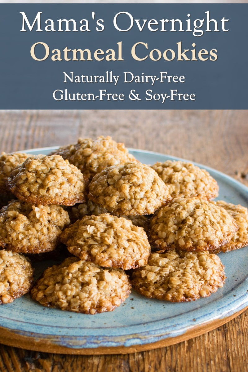 Mama's Overnight Oatmeal Cookies Recipe - Easy, Flourless, and Naturally Gluten-Free, Dairy-Free, Nut-Free, and Soy-Free. Unique and delicious!