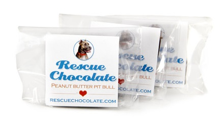 Halloween Treats - Rescue Chocolate Vegan Peanut Butter Pit Bull Minis