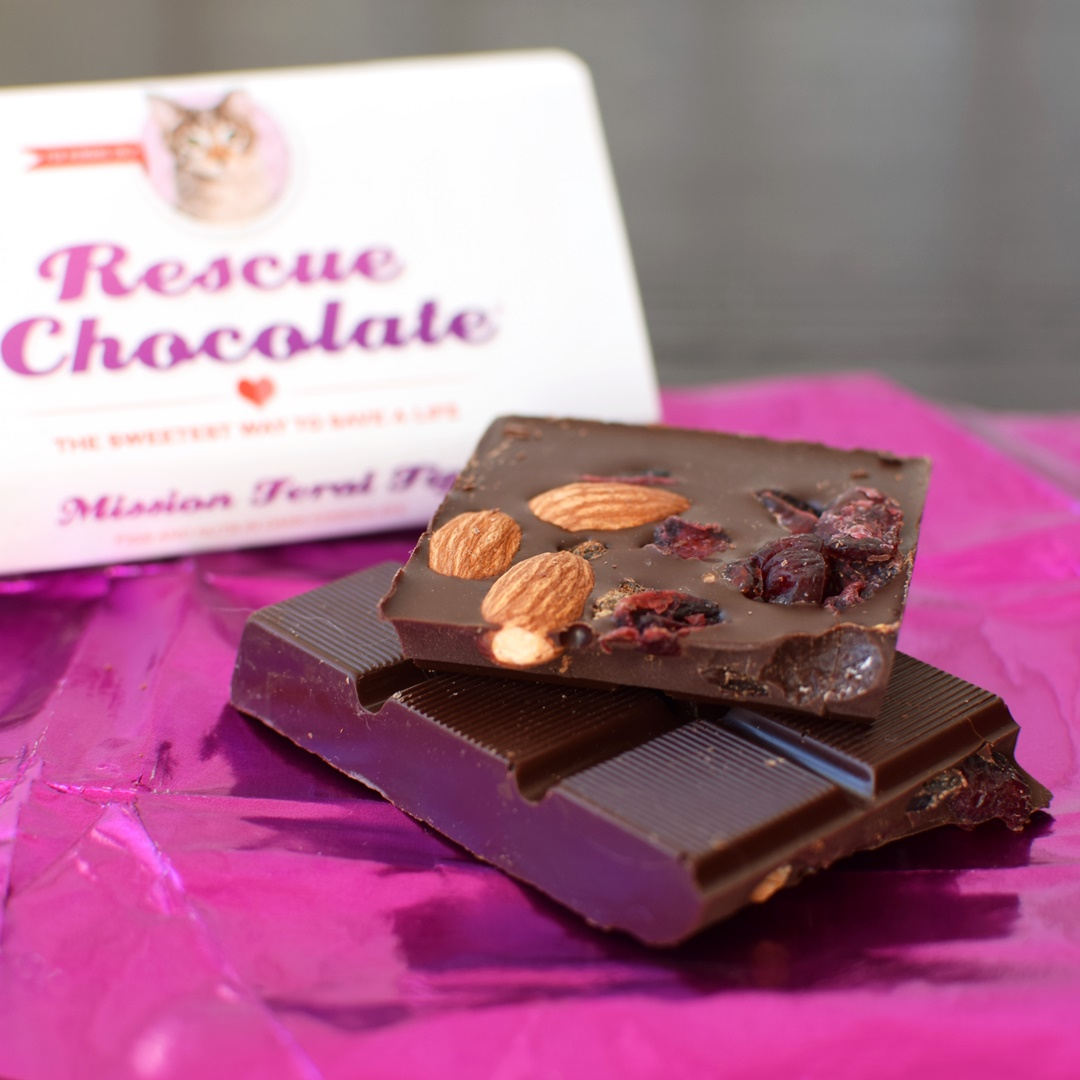 Rescue Chocolate - A vegan chocolatier where proceeds are donated to animal resuce
