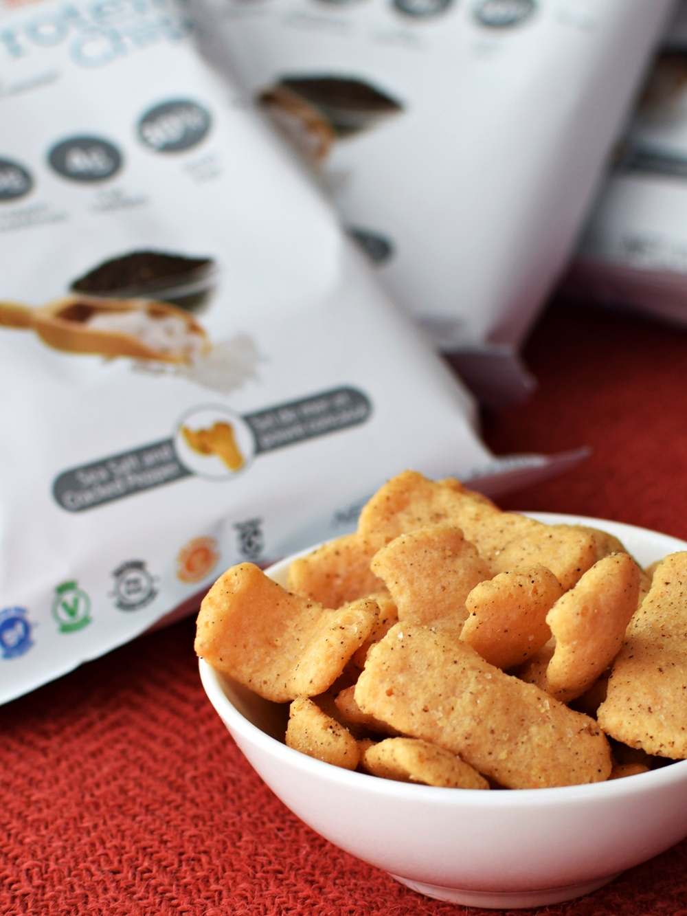 Simply Protein Chips - a dairy-free, gluten-free, soy-free, vegan snack with 15 grams of protein per serving