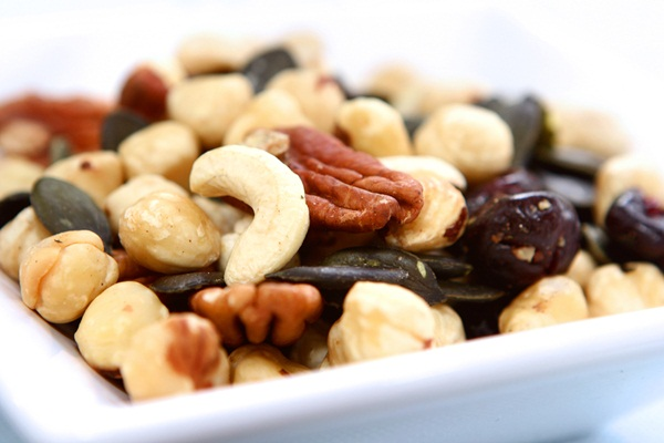 Almonds, Hazelnuts, Cashews, Pecans, and Sunflower Seeds