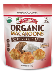 Jennie's Gluten-Free Macaroons are also dairy-free and nut-free. Available in organic varieties. Reviews and more info here ...