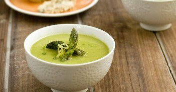 French Farmhouse Asparagus Bisque Recipe - a creamy, nourishing dairy-free and vegan soup recipe by Terry Hope Romero