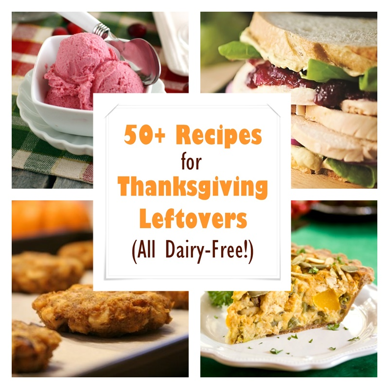 50+ Dairy-Free Recipes for Thanksgiving Leftovers! Includes vegan / plant-based options and many are gluten-free, too.