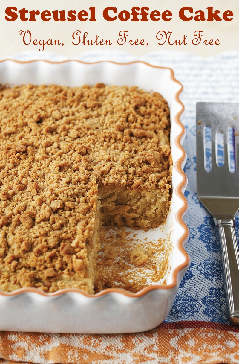 Vegan Gluten Free Coffee Cake Recipe With Streusel Topping