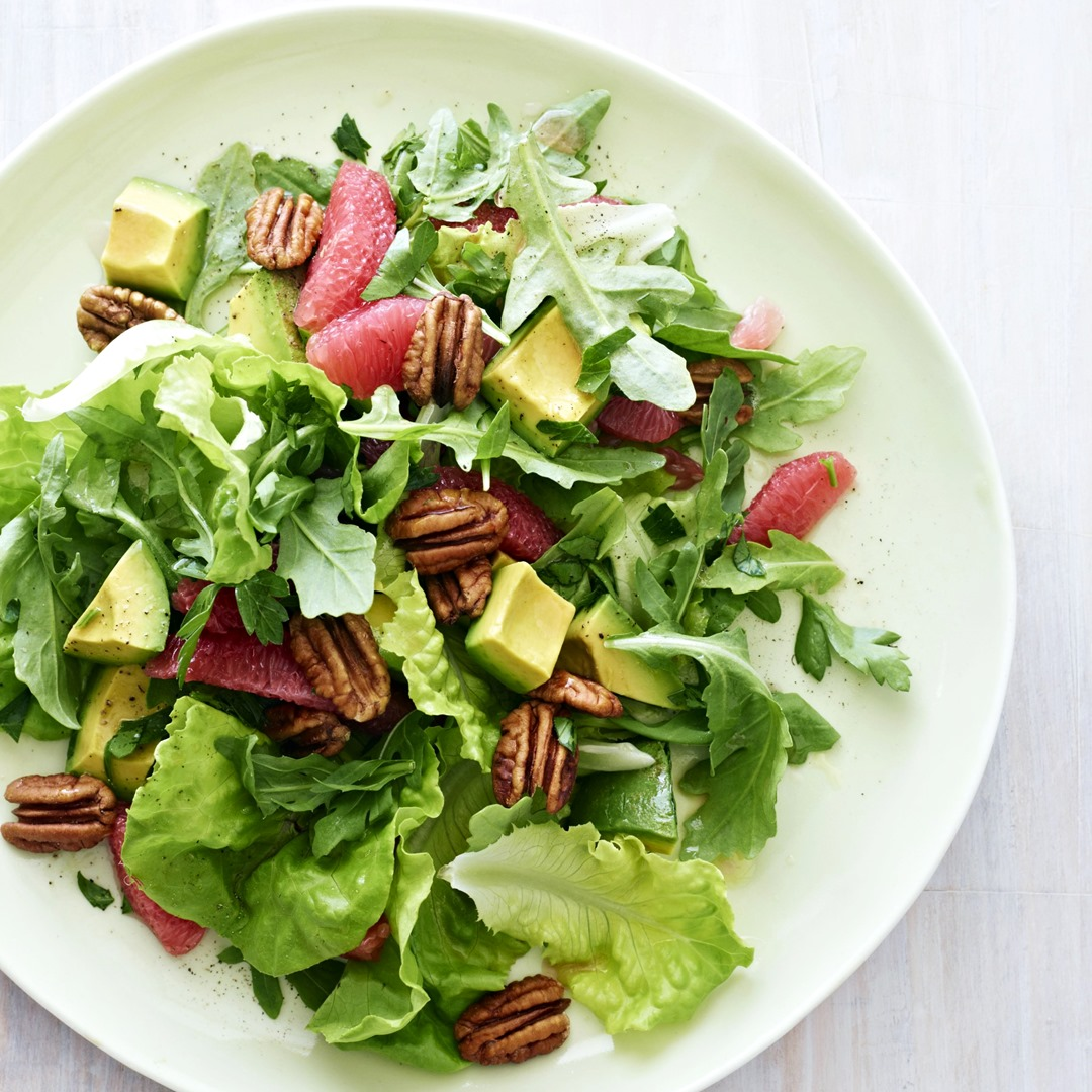 Grapefruit and Avocado Winter Salad Recipe with Arugula (dairy-free, gluten-free, vegan, healthy!)