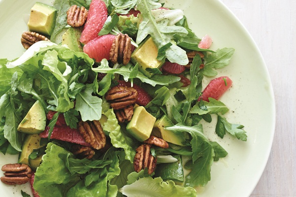 Grapefruit & Avocado Winter Salad with Pecans