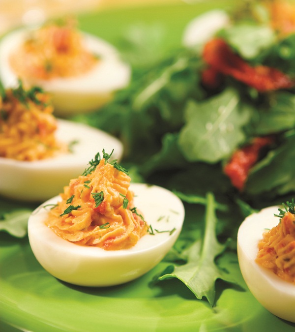 Dreamy No Mayo Deviled Eggs