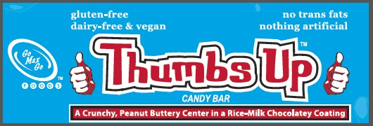 Go Max Go Vegan Candy Bars - Thumbs Up (compare to Butterfinger)