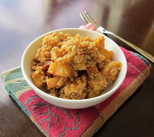 Oatmeal Apple Crisp Recipe - Like an Oatmeal Raisin Cookie!