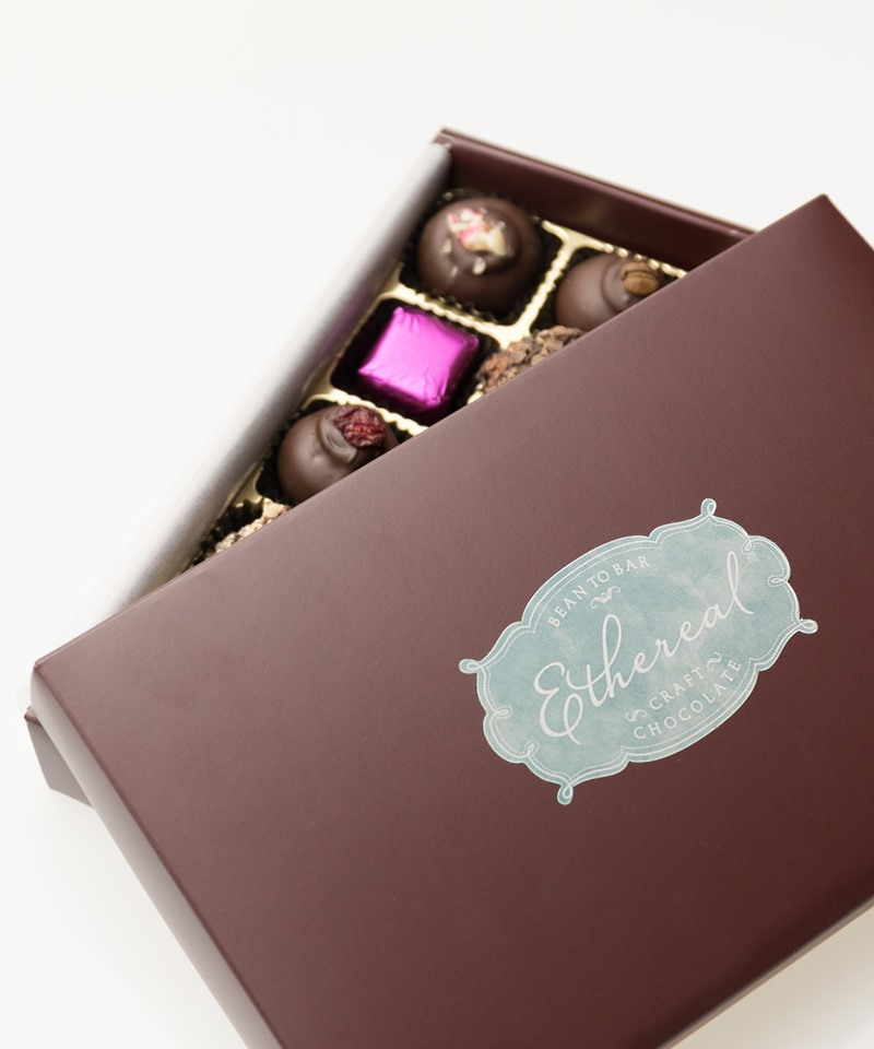 Ethereal Confections Chocolate Reviews and Info - All Dairy-Free, Gluten-Free - including gift-worth bars, truffles, and other chocolaty vegan sweets.