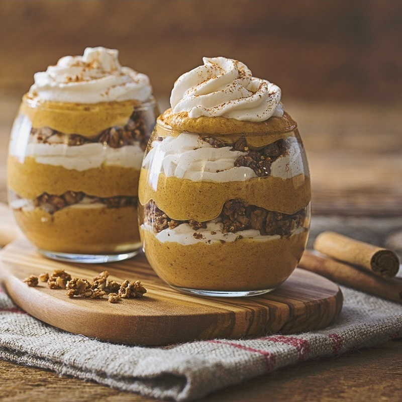 Dairy-Free Thanksgiving Recipes: Mains, Sides and Desserts! (Pictured: vegan pumpkin spice parfaits)