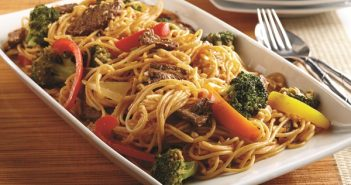 Thai Red Curry Beef, Vegetables, and Pasta Recipe