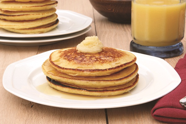 "Citrus Pancakes with Honey ""Butter"""